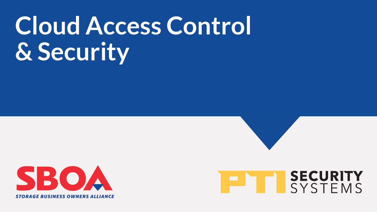 Storage Business Owners Alliance PTI Security Systems thumbnail