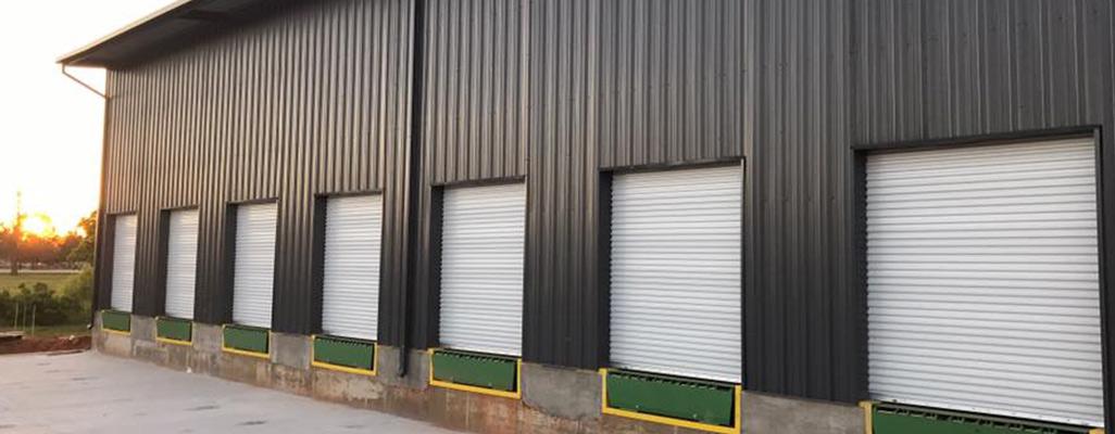 grey self storage doors
